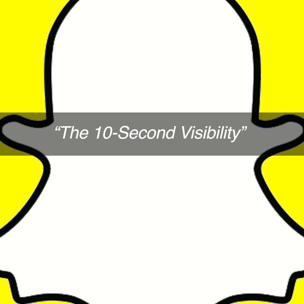 Snapchat- 10 second visibilty