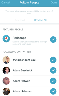periscope featured people