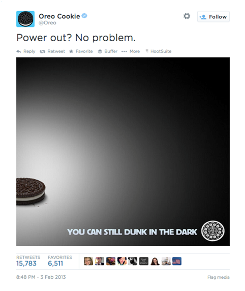 Real time marketing-Oreo