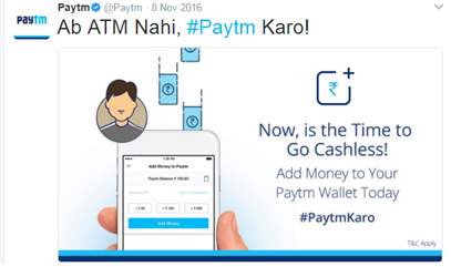 Real time marketing-PayTM