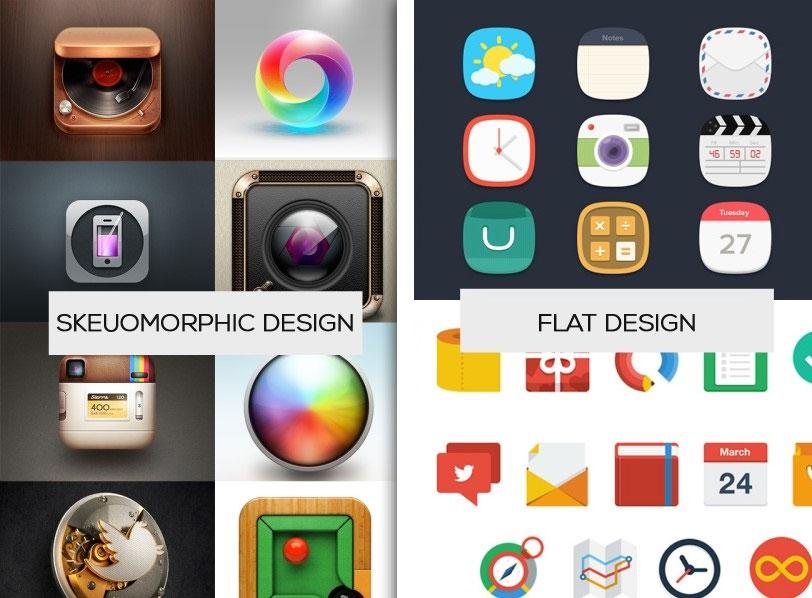 Skeuomorphic vs Flat Design