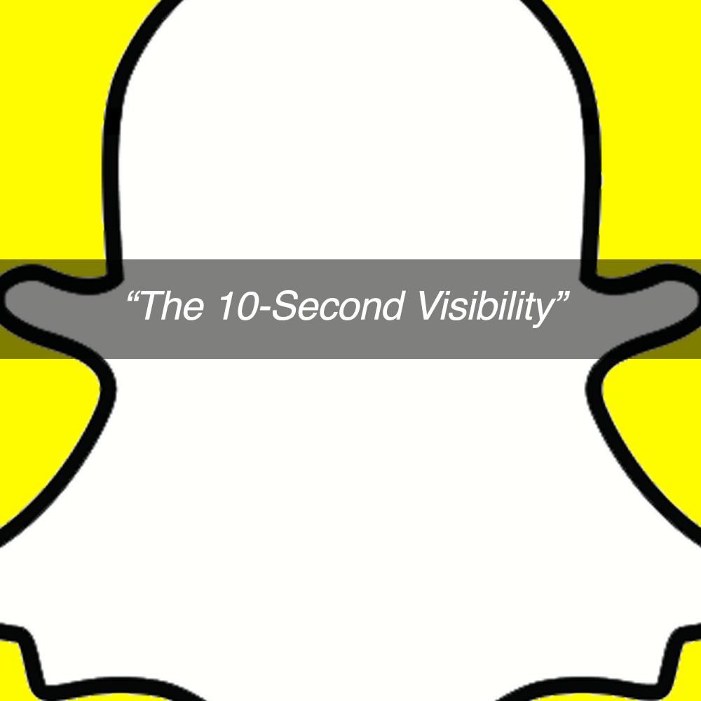 Snapchat- 10 second visibilty